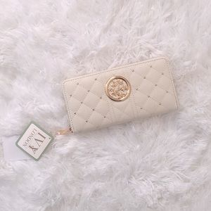 Ivy London Quilted faux leather Wallet Golden